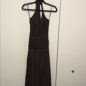 BCBG Evening Gown, Chocolate Brown, size small